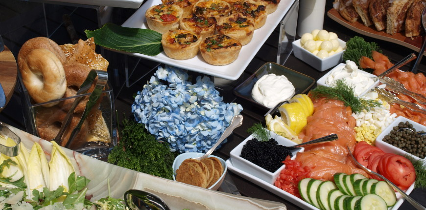 Summer Wedding Buffet – Above and Beyond Catering
